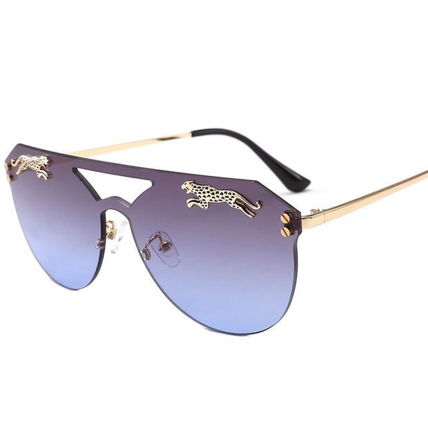 Women Men Rimless Oversized Cateye Sunglasses
