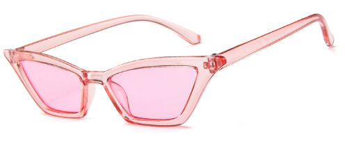 Red Shades Small Cat Eye Sunglasses