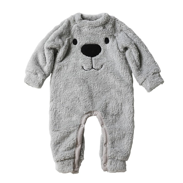 Winter Baby Boy Girl  Cashmere  Rompers Jumpsuit