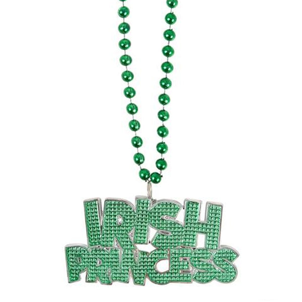 St Patrick's Day Irish Princess Beaded Necklace