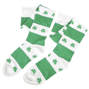 St Patrick's Day Knee High Shamrock Socks