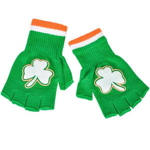 St Patrick's Day Fingerless Gloves