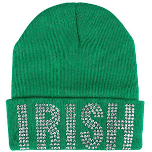 St Patrick's Day Irish Bling Beanie