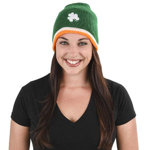 St Patrick's Day Tri-Color Irish Flag Beanie