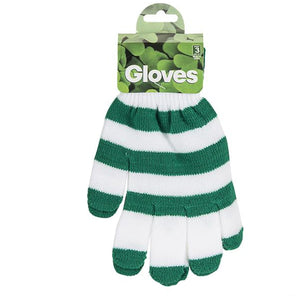 St Patrick's Day Green And White Gloves