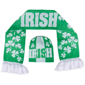 St Patrick's Day Irish Hat and Scarf Set