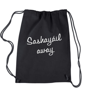 Sashayail Away Drawstring Backpack