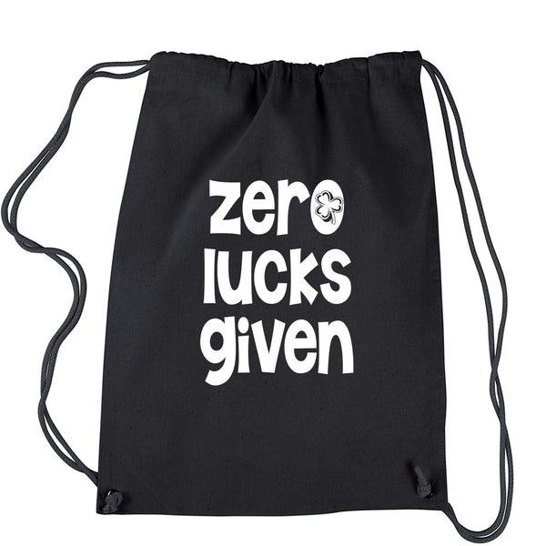 Zero Lucks Given St Paddy's Day Drawstring Backpack