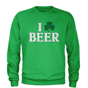 I Shamrock Beer St. Paddy's Day Adult Crewneck Sweatshirt