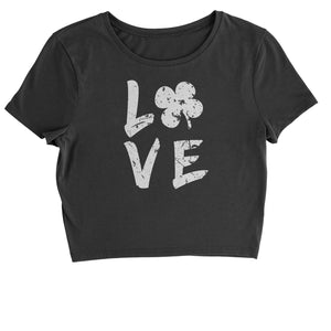 Love Shamrock Clover Cropped T-Shirt