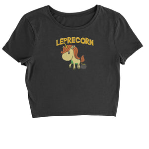 Leprecorn Unicorn Leprechaun Cropped T-Shirt
