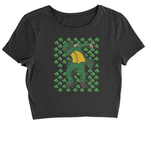St Patricks Day Dab Cropped T-Shirt