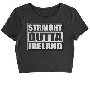 Straight Outta Ireland Cropped T-Shirt