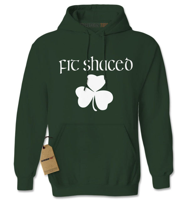 Fit Shaced Shamrock St. Patrick's Day Adult Hoodie Sweatshirt