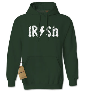 Irish Rockstar Band Logo St. Patrick's Day Adult Hoodie Sweatshirt