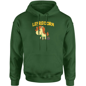 Leprecorn Unicorn Leprechaun Adult Hoodie Sweatshirt