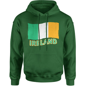 Ireland Distressed Flag Adult Hoodie Sweatshirt