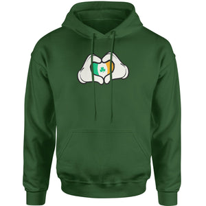 Ireland Flag Cartoon Hands Adult Hoodie Sweatshirt