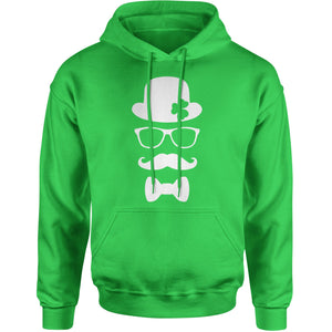 Derby, Mustache and Shamrock Adult Hoodie Sweatshirt