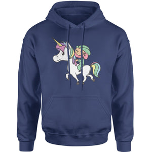 Leprechaun Riding A Unicorn Adult Hoodie Sweatshirt