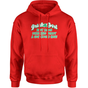 Irish Girl - Best Damn Drinking Buddy Adult Hoodie Sweatshirt