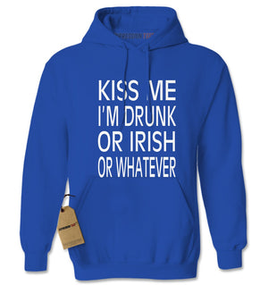 Kiss Me I'm Drunk Or Irish Adult Hoodie Sweatshirt