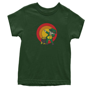 Dabbing Leprechaun Rainbow Youth T-shirt