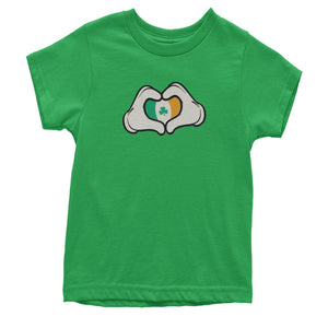 Ireland Flag Cartoon Hands Youth T-shirt
