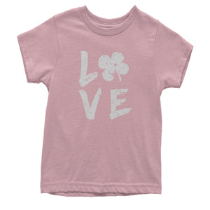 Love Shamrock Clover Youth T-shirt