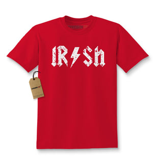 Irish Rockstar Band Logo St. Patrick's Day Kids T-shirt