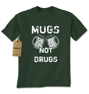 Mugs Not Drugs Funny Mens T-shirt