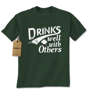 Drinks Well With Others Mens T-shirt