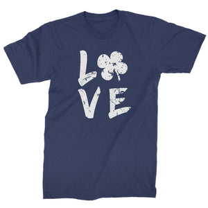 Love Shamrock Clover Mens T-shirt
