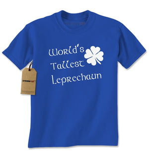 World's Tallest Leprechaun Shamrock Mens T-shirt