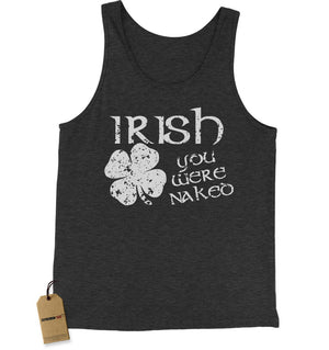 Irish You Were Naked Jersey Tank Top for Men