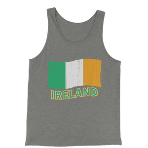 Ireland Distressed Flag Jersey Tank Top for Men