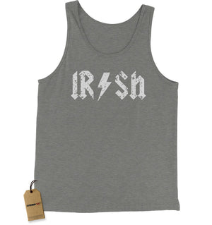 Irish Rockstar Band Logo St. Patrick's Day Jersey Tank Top for Men