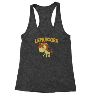 Leprecorn Unicorn Leprechaun Racerback Tank Top for Women
