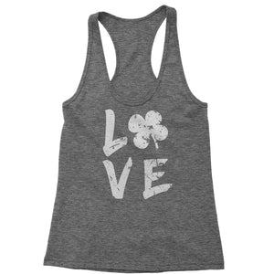 Love Shamrock Clover Racerback Tank Top for Women