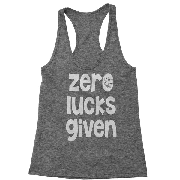 Zero Lucks Given St Paddy's Day Racerback Tank Top for Women