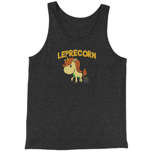 Leprecorn Unicorn Leprechaun Jersey Tank Top for Men