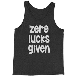 Zero Lucks Given St Paddy's Day Jersey Tank Top for Men