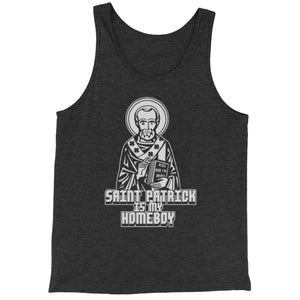 St. Patrick Is My Homeboy Jersey Tank Top for Men
