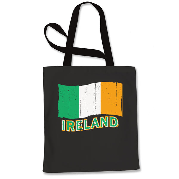 Ireland Distressed Flag Shopping Tote Bag