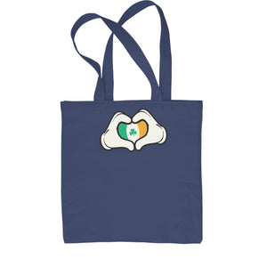 Ireland Flag Cartoon Hands Shopping Tote Bag