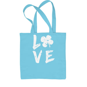 Love Shamrock Clover Shopping Tote Bag