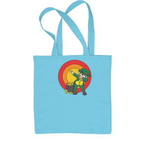 Dabbing Leprechaun Rainbow Shopping Tote Bag