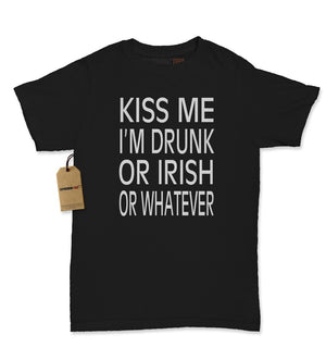 Kiss Me I'm Drunk Or Irish Womens T-shirt