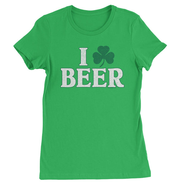 I Shamrock Beer St. Paddy's Day Womens T-shirt