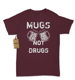 Mugs Not Drugs Funny Womens T-shirt